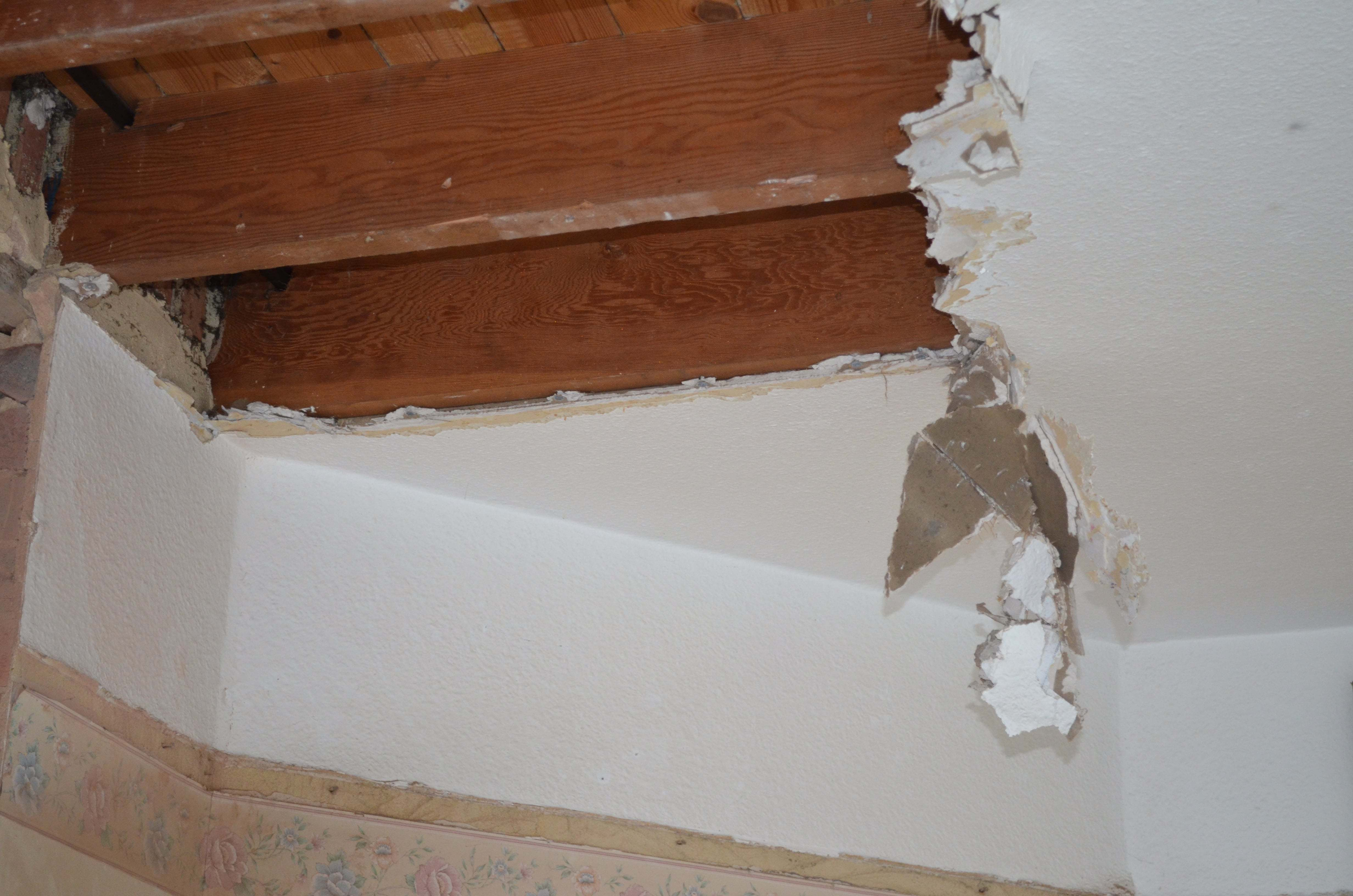 water leaking from upstairs