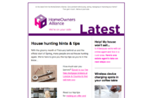 HomeOwners Alliance March newsletter
