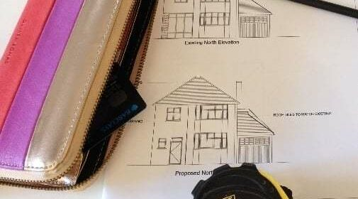 architect drawings home improvements and how to pay for building work
