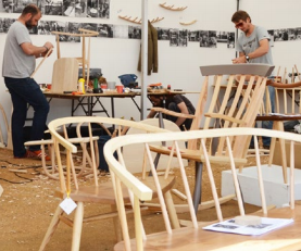 Windsor chairs being produced at Heals craft workshop