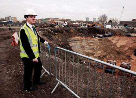 George Osborne gets building