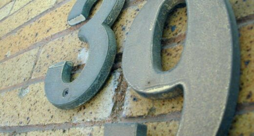 Image of house numbers