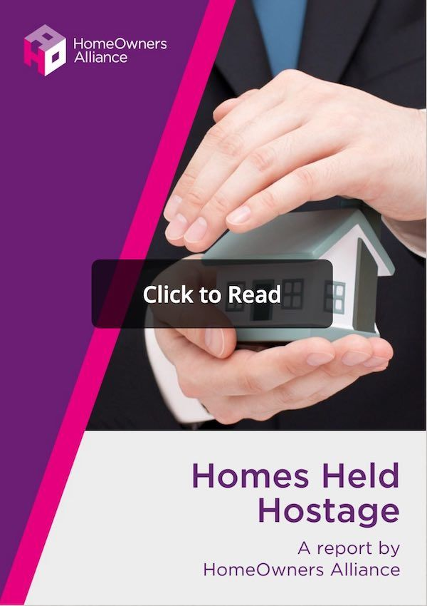 Cover of HOA report into uk leasehold system