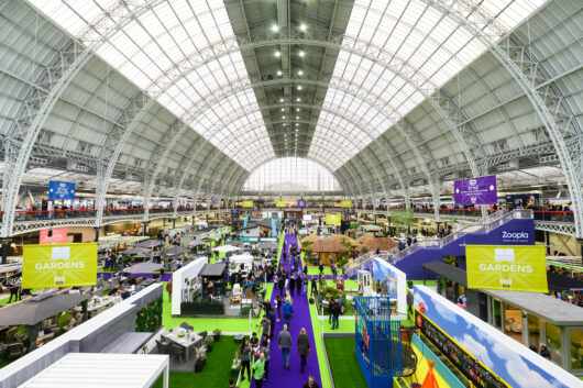 Hundreds of exhibitors at the Ideal Home Show