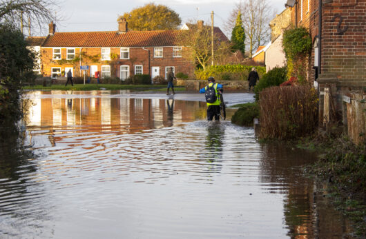 People living in flood risk areas
